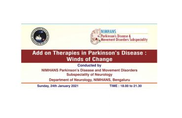 Conference: Add on therapies in PD: Winds of Change – Online CME – 24/01/2021